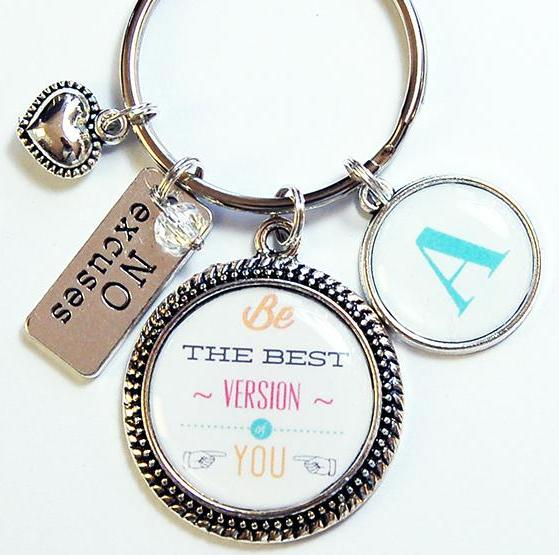 Be The Best Version Of You Monogram Keychain - Kelly's Handmade