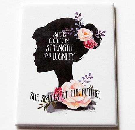 Strength & Dignity Rectangle Magnet - Kelly's Handmade