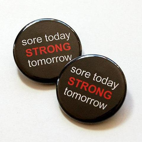 Sore Today Strong Tomorrow Shoelace Charms - Kelly's Handmade