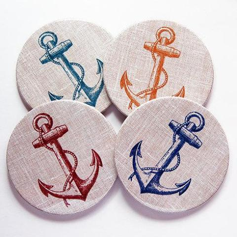 Anchor Coasters - Kelly's Handmade