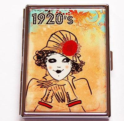 1920s Flapper Slim Cigarette Case - Kelly's Handmade