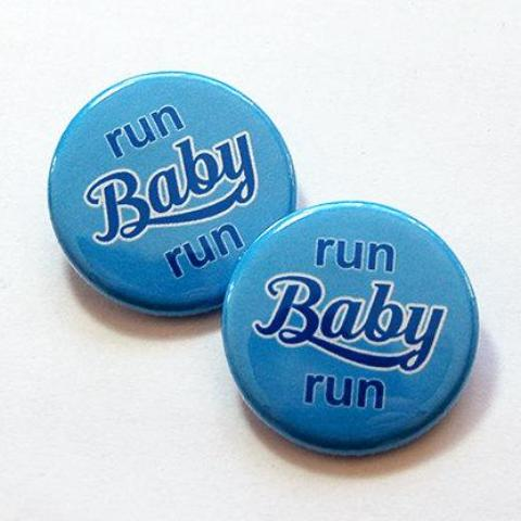 Run Baby Run Shoelace Charms in Blue & Pink - Kelly's Handmade