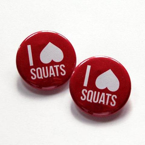 I Love Squats Shoelace Charms - Kelly's Handmade