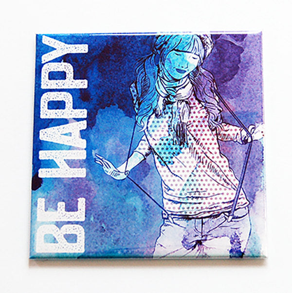 Be Yourself & Be Happy Magnet - Kelly's Handmade