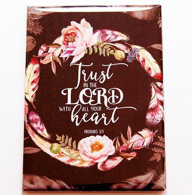 Trust In The Lord Magnet - Kelly's Handmade