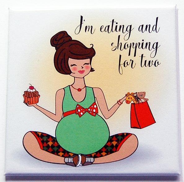 Eating And Shopping For Two Magnet - Kelly's Handmade