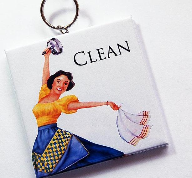 Retro Housewife Clean/Dirty Dishwasher Sign #2 - Kelly's Handmade