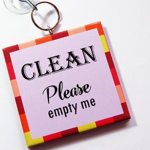 Modern Clean/Dirty Dishwasher Sign in Pink - Kelly's Handmade