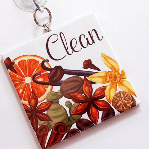 Fruit & Flowers Clean/Dirty Dishwasher Sign - Kelly's Handmade