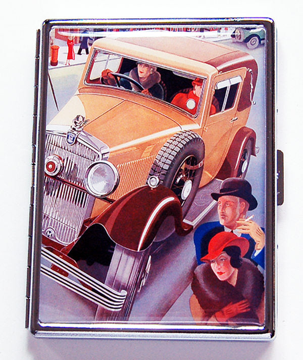 Busy Streets Slim Cigarette Case - Kelly's Handmade