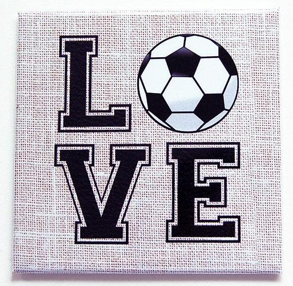 Love Soccer / Love Football Magnet - Kelly's Handmade
