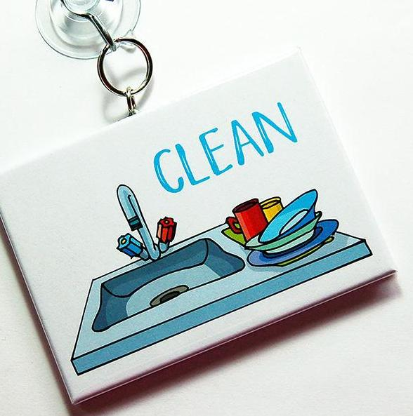 Kitchen Sink Clean/Dirty Dishwasher Sign - Kelly's Handmade