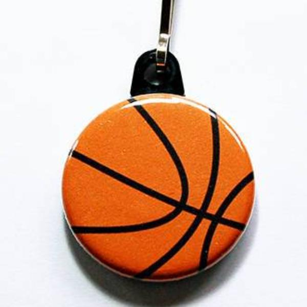 Basketball Zipper Pull - Kelly's Handmade