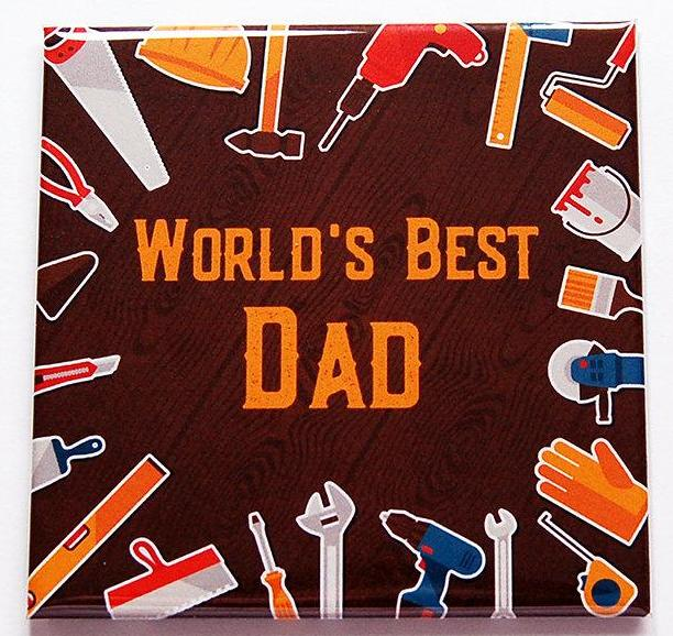 World's Best Dad Magnet - Kelly's Handmade