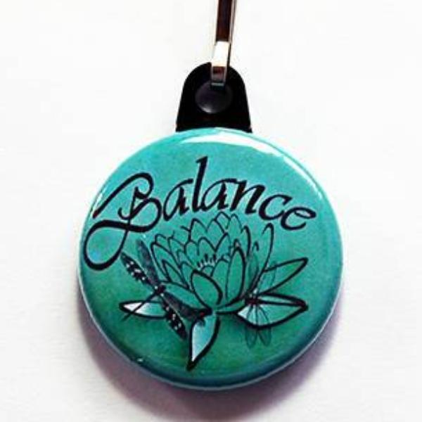 Balance Lotus Flower Zipper Pull - Kelly's Handmade
