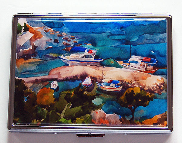 Seaside Landscape Compact Cigarette Case - Kelly's Handmade