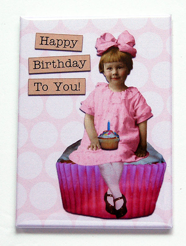 Happy Birthday Girl in Pink - Kelly's Handmade