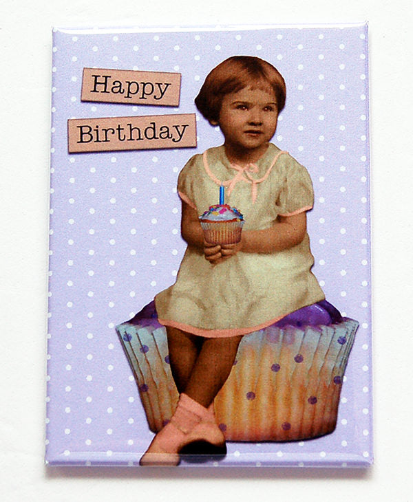 Happy Birthday Girl in Purple - Kelly's Handmade