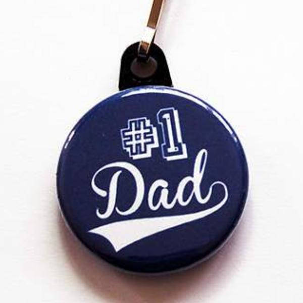 #1 Dad Zipper Pull - Kelly's Handmade