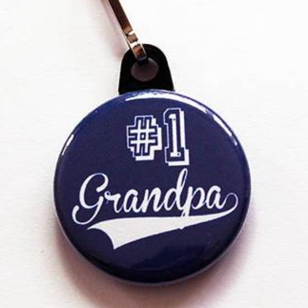 #1 Grandpa Zipper Pull - Kelly's Handmade