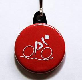 Cycling Zipper Pull Available in 3 Colors - Kelly's Handmade