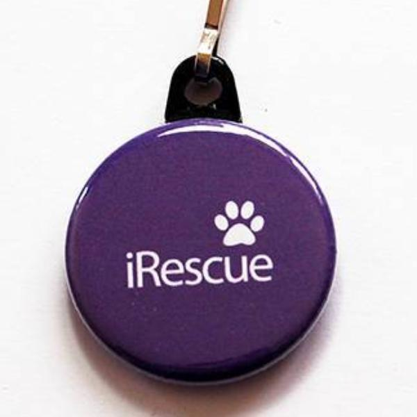 iRescue Zipper Pull in Purple - Kelly's Handmade