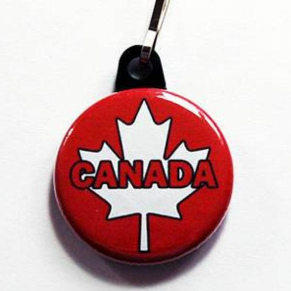 Canada Maple Leaf Zipper Pull - Kelly's Handmade