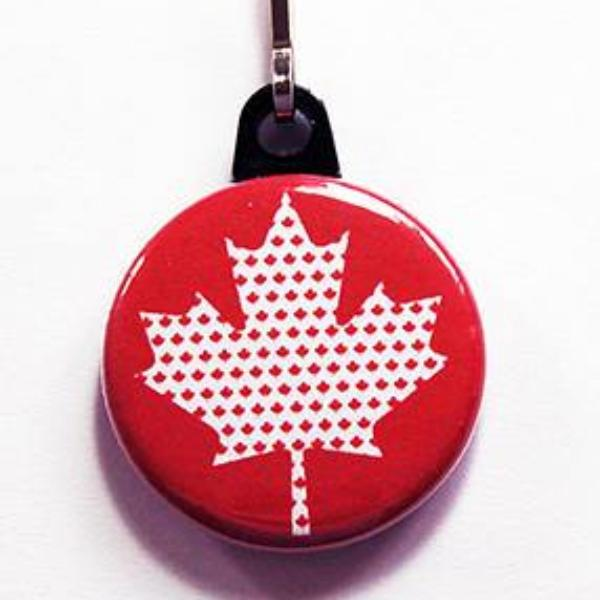 Canada Leaves in Maple Leaf Zipper Pull - Kelly's Handmade