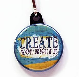Create Yourself Zipper Pull - Kelly's Handmade