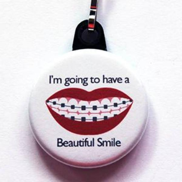 Beautiful Smile With Braces Zipper Pull - Kelly's Handmade