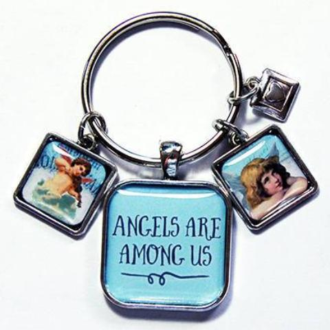 Angels Are Among Us Keychain - Kelly's Handmade