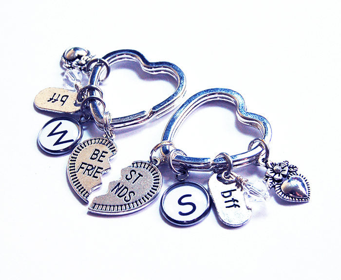 Best Friends Set of Two Monogram Keychains - Kelly's Handmade