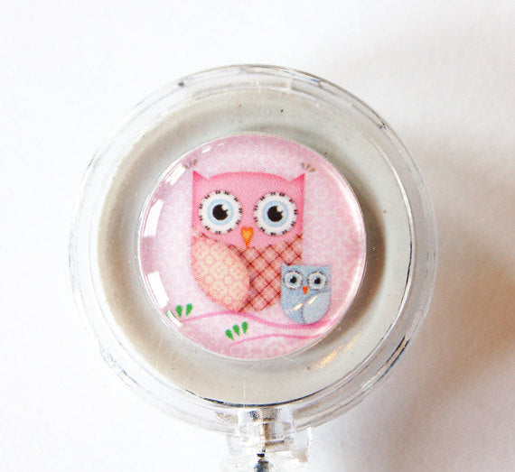 Owl ID Badge Reel - Kelly's Handmade