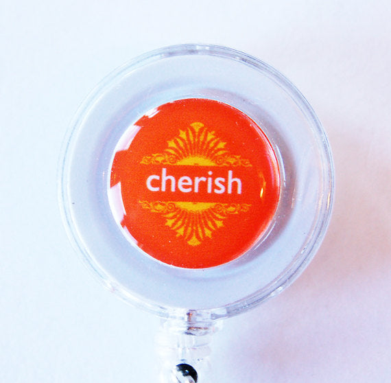 Cherish ID Badge Reel - Kelly's Handmade