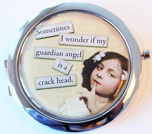 Guardian Angel Compact Mirror - Kelly's Handmade