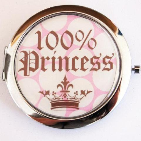 100% Princess Compact Mirror - Kelly's Handmade