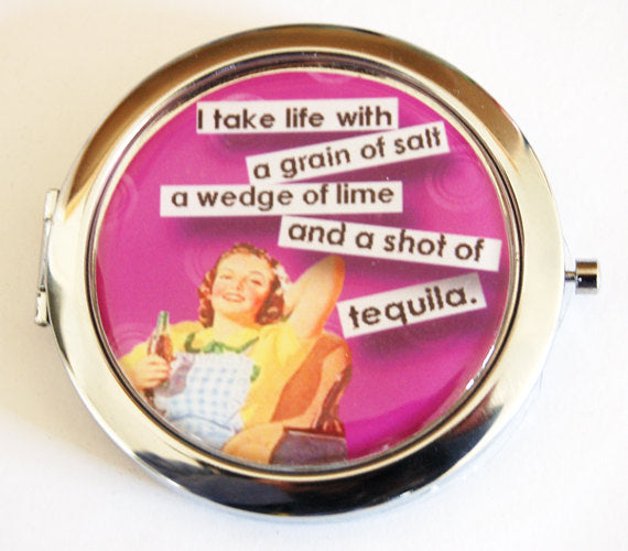 A Shot Of Tequila Compact Mirror - Kelly's Handmade