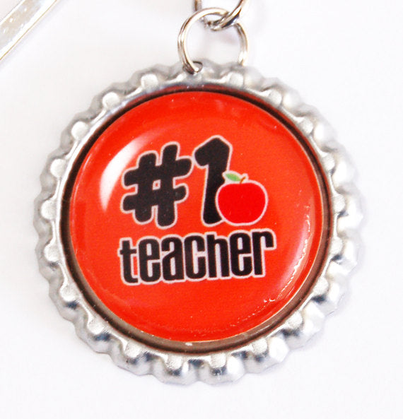 # 1 Teacher Bookmark in Red - Kelly's Handmade