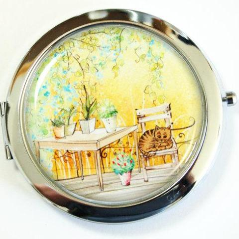 Patio Landscape Compact Mirror - Kelly's Handmade