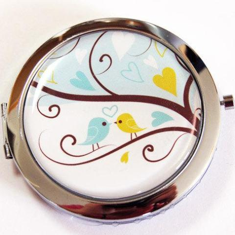 Love Birds Compact Mirror - Kelly's Handmade