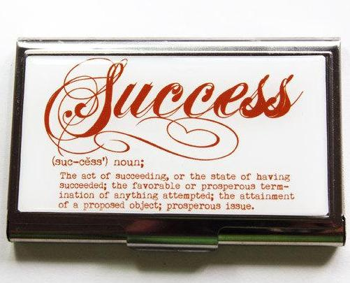 Success Business Card Case - Kelly's Handmade