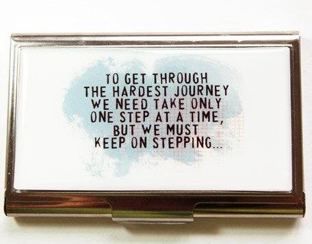 Keep On Stepping Business Card Case - Kelly's Handmade