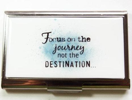 Focus On The Journey Business Card Case - Kelly's Handmade