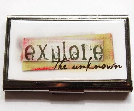 Explore The Unknown Business Card Case - Kelly's Handmade