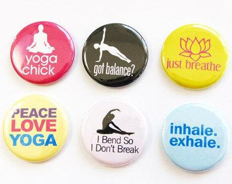 Yoga Set Of Six Magnets - Kelly's Handmade