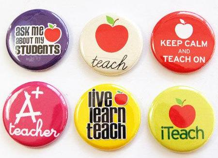 Teacher Set Of Six Magnets #2 - Kelly's Handmade