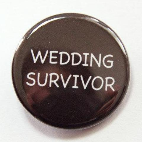 Wedding Survivor Pin - Kelly's Handmade