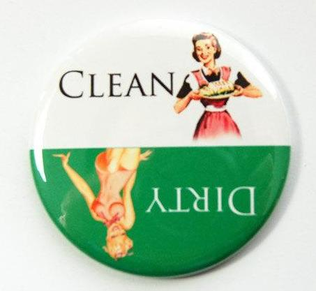 Pinup Girls Dishwasher Magnet Green & White - Kelly's Handmade