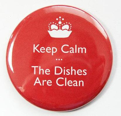 Keep Calm Clean Dishes Dishwasher Magnet - Kelly's Handmade