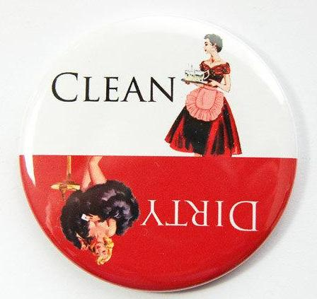 Pinup Girls Dishwasher Magnet Red & White #2 - Kelly's Handmade